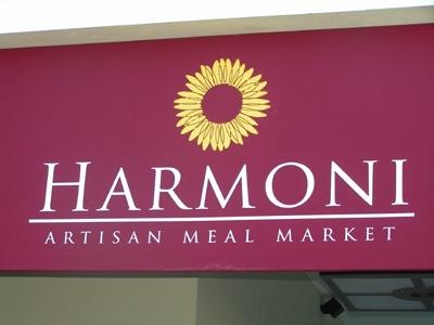 Harmoni Artisan Meal Market Sign