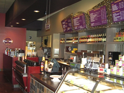 Counter Area at It's a Grind Coffee House