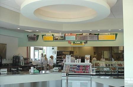 Interior at Krispy Kreme University Blvd. in Orlando