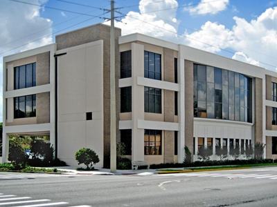 Exterior of Three-Story Office at Park Lake Building