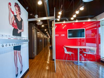 Seating Area Inside i-Studio Salon at Rialto Mall