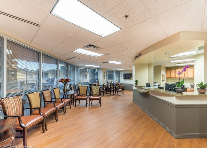 View of Waiting Room and Reception Desk WellMed Longwood