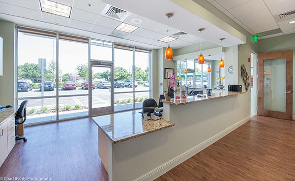 Front Desk Area of Sage Dental in Oviedo, FL