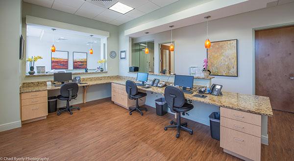 Front Desk Area at Sage Dental in Oviedo, FL