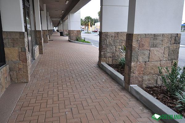Walkway of Semoran Shopping Center After Renovation