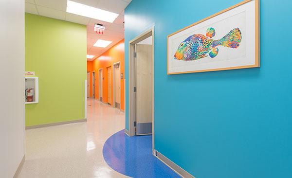 Hallway at Nemours Children's Urgent Care in Lake Nona, FL
