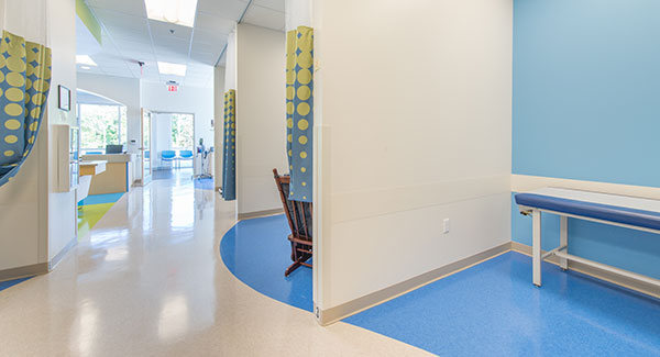 Hallway View at Nemours Children's Urgent Care in Lake Nona, FL