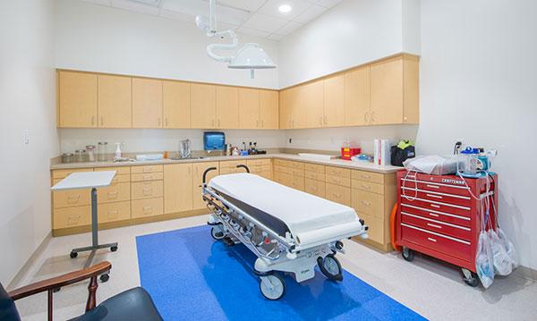 Exam Room in Nemours Children's Urgent Care Located in Lake Nona, FL