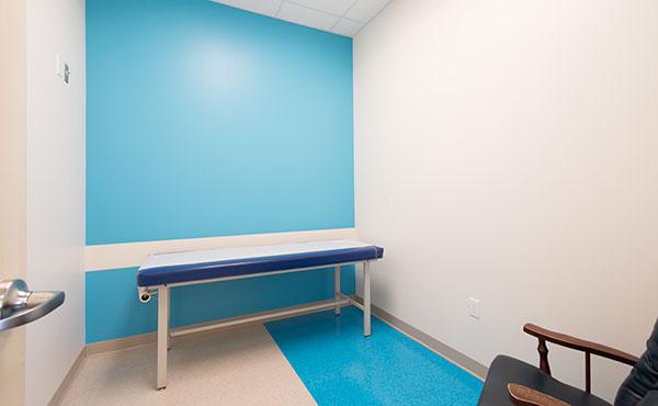 Exam Room at Nemours Children's Urgent Care in Lake Nona