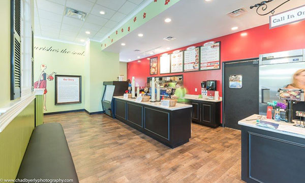 Counter Area at Chicken Salad Chick in Lake Nona, FL