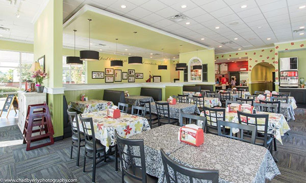 Table Seating at Chicken Salad Chick in Lake Nona, FL