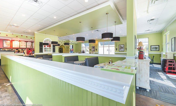 Seating Area at Chicken Salad Chick in Lake Nona