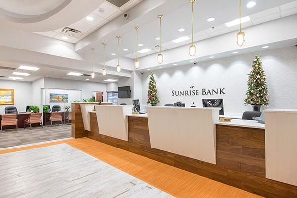 Sunrise Bank Teller Desk