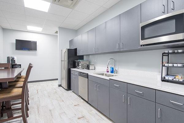 Sunrise Bank Breakroom Showing the Kitchen