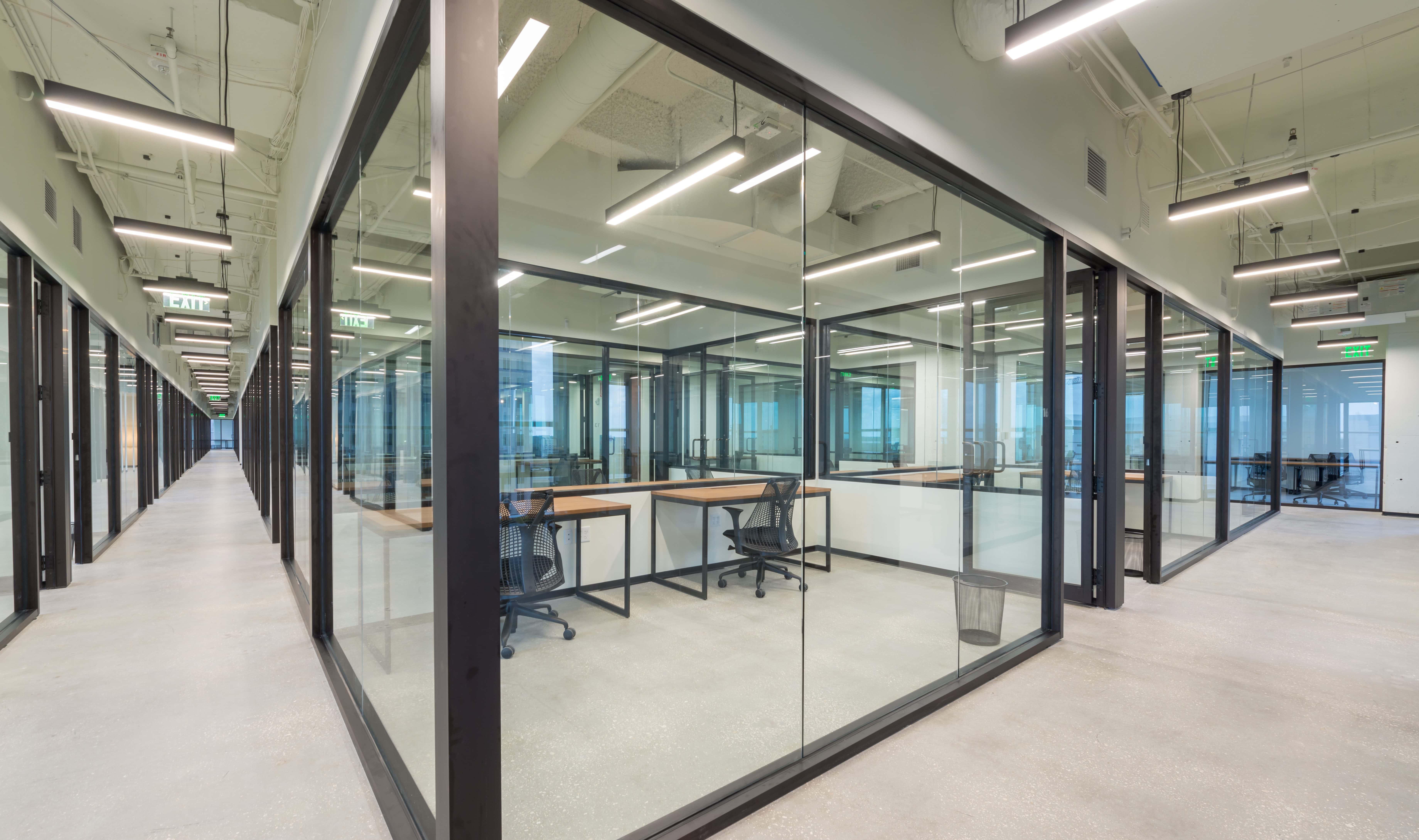 Industrious Interior Glass Walls