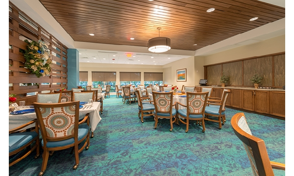 Mayflower Dining Room Wood Accent Dividing Wall